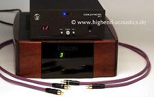 melodika Highend Chinch Kabel Stereo 1,5 Meter 24 Karat vergoldete Stecker RCA -