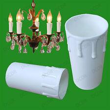 50X Blanc Goutte Bougie Cire Effet Chandelier Ampoule Lumière Poche Housse 85x40