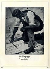 Josef Stieb Der Zimmermann (Erstveröffentlichung) Grafik-Print von 1929