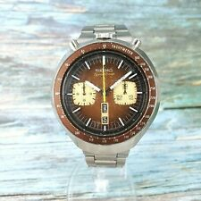 Vintage Seiko Automatic Speed-Timer Chronograph. Brown Bullhead. 6138-0040
