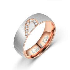 Women Men Finger Ring Jewelry Stainless Couple Wedding Engagement Ring Fashion