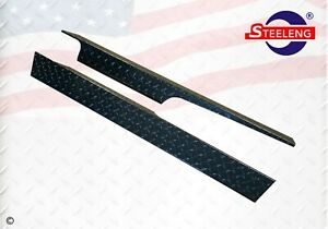 Black Aluminum Diamond Plate Rocker Panel for Club Car Golf Cart DS 82-Up