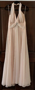 Vintage Mike Benet Formals Backless Halter Gown W/Jewel  Size 16