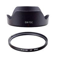 FOR Canon EF-S 10-18mm f/4.5-5.6 IS STM Lens 67MM UV Filter + EW-73C Hood