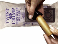 Twist-N-Crimp, Paper Coin Roll Crimper for Cent, Nickel, Dime, Quarter Wrappers