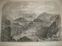 Rubislaw and Petershead quarries Aberdeen Aberdeenshire 1862 old print