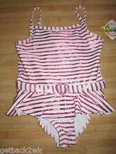 NEW Penelope Mack SWIMSUIT GIRLS 5 Pink Stripes UPF 50+ UV Protection
