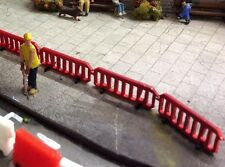 1:76 scale/00 Gauge red PLASTIC LASER CUT  Pedestrian Barriers.