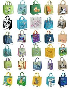 Fair Trade JUTE Shopping Bag Large Carrier Handles Canvas Green Eco Friendly