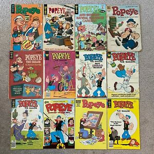 Lot of Vintage Popeye The Sailor Comic Books King Dell Whitman Gold Key