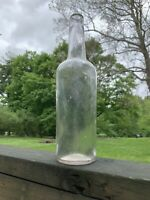 Pre Prohibition  Sheared Lip Antique 1800s Wine Beer Whiskey Bottle Glass