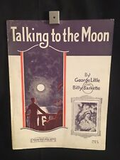 1926 Talking To The Moon Piano Sheet Music Book Milton Weil George Little