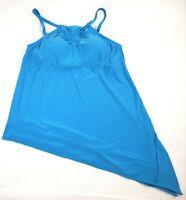 Coastal Blue Women's Control Swimwear Asymmetrical Hem Tankini Top, M 8-10