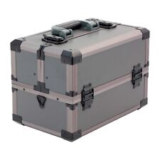 GRANDE portatile Rugged Tackle Box Ondulato CASE con vassoi a sbalzo