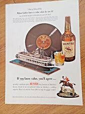 1950 Hunter Whiskey Ad Gabler Collection Record Vinyl River Boat Shuffle
