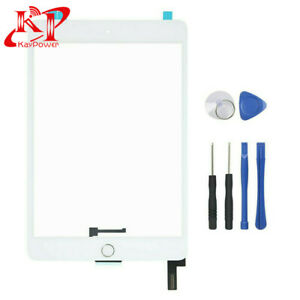 White Glass Touch Screen Digitizer For iPad Mini 4 A1538 A1550 Home Button Tools