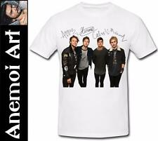 T470 new signed 5SOS 5 Seconds Of Summer autograph signature t shirt tee t-shirt