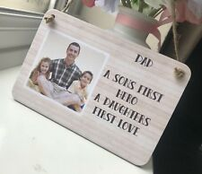 Personalised Photo Plaque Fathers Day Gift First Hero First Love Dad Daddy