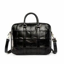 Men Waterproof Briefcase Travel Handbag Leather Laptop Business Crossbody Bags