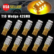 10X Yellow/Amber Wedge T10/906/194 42-SMD Backup Reverse Turn Side LED Light
