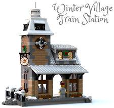 Constructibles Winter Village Train Station - LEGO® Parts & Instructions Kit