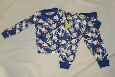 New Baby Frosty the Snowman Print Pajamas Size 12M Long Sleeve Christmas Unisex