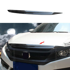 Carbon Fiber Color Front Grill Grille Bonnet Cover Trim For Honda Civic 16-2017