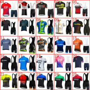 2021 Summer Mens Cycling Jersey Bib Shorts Set Bicycle Outfits Team Bike Clothes