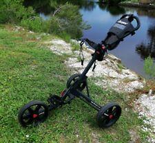 Clicgear 3.5+ Golf Bag Cart Push Pull Three Wheel Portable Foldable Black