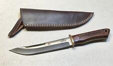 VINTAGE 1980' AL MAR BORDER PATROL SEKI JAPAN FIGHTING DAGGER KNIFE W/SHEATH