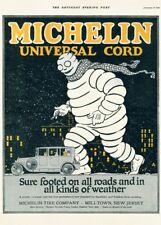 Michelin Universal Cord, America, 1921, Vintage Automobile Art Deco Poster