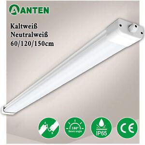 LED Feuchtraumleuchte 60/120/150cm Feuchtraumlampe Deckenleuchte Werkstatt IP65