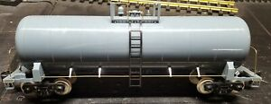 MTH One-Gauge Undecorated Tank Car RARE!