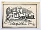 Vintage Pre-Pro Golden Extract of Malt Beer Label Adolph Coors Golden CO
