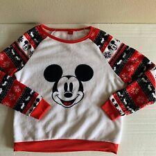 Disney Mickey Mouse Fleece Top Junior L