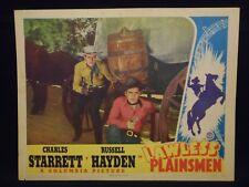 Charles Starrett Russell Hayden Lawless Plainsmen 1942 Lobby Card Fine Western