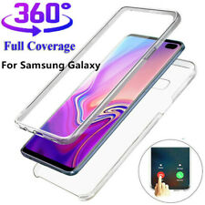 For Samsung Galaxy S9 S10 Plus Slim 360° Full Body Case TPU+PC Clear Slim Cover