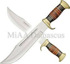 MiAA international Handmade D2 Hunting Crocodile Dundee High Polish Bowie Knife
