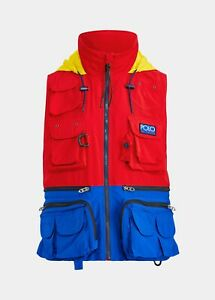 Polo Ralph Lauren Mens Hi-Tech Water Repellent Colour Block Vest   Red   Large L