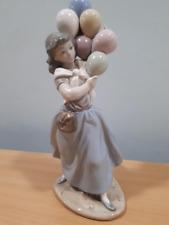 J Lladro Daisa 1981 Nao girl with balloons