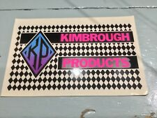 Vintage Kimbrough Product Decal Sticker Sheet 1/8 On Road RC Car Wing or Pit Box
