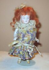 New ListingAntique All Bisque Jointed German Doll Yellow 2 Strap Shoes