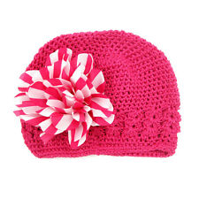Toddler Infant Baby Girl Newborn Flower Hollow Out Hat Headwear Beanie Warm Cap