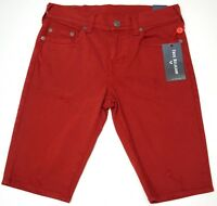 NWT $149 True Religion Red Shorts Mens Size 32 Ricky Relaxed Straight Stretch