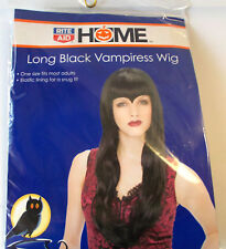 Long Black Vampiress Wig Widows Peak Adult OSFM NIP