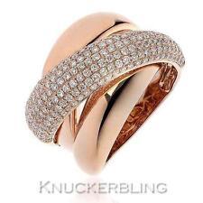 18 Carat Rose Gold Wedding Band Fine Diamond Rings