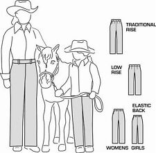 Suitability 2250 Womens & Girls Western Showmanship Show Pants Sewing Pattern