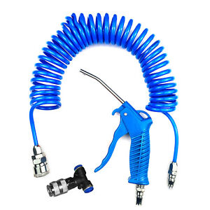 Air Duster Blow Gun And 5M Recoil Hose Truck Lorry Dust Blower Cleaning UK