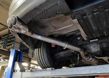 "BMW 325i (N53) E90/E91/E92/E93 Rear silencer delete pipe - Twin 3"" tail pipe A"