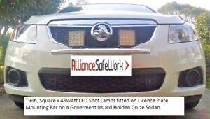 LED WIG-WAG Lightbar Kit 2 x 27W - Universal Licence Plate Mount (Complete Kit)